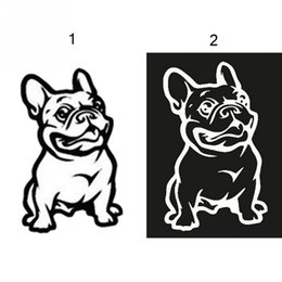 Wholesale plastic car windows - Fashion French Bulldog Dog Car Sticker PET Cars Decal Weatherproof Auto Styling Cartoon Car Stickers Car Accessories