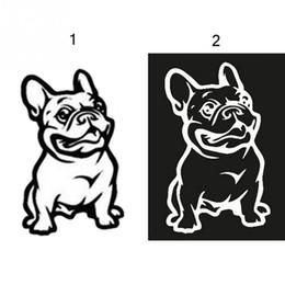 Wholesale Car Fashion Body Sticker - Fashion French Bulldog Dog Car Sticker PET Cars Decal Weatherproof Auto Styling Cartoon Car Stickers Car Accessories