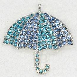 Wholesale China Parasols - Wholesale Parasol Umbrella Rhinestone Pin brooches C101997