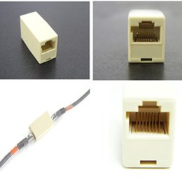 Wholesale Plug Ethernet Cable - Wholesale- Cable Joiner RJ45 Adapter Network Ethernet Lan Coupler Connector Extender Plug