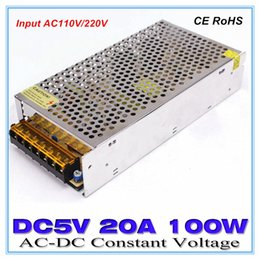Wholesale Power Equipments - AC to DC5V 20A LED Driver Power Supply 100W 5V Lighting Transformer Overload Protection for Industry Equipments and LED Lighting