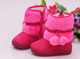 Wholesale Lace Up Warm Boots - BOOTS 8-Girls Snow Boots New Fashion Comfortable Thick Warm Winter Cute Boys Boots Princess Shoes