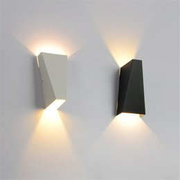Wholesale Led Spot Lights Outdoor - 10W Outdoor Waterproof Wall Lamp LED Modern Light Up Down Wall Lamp Square Spot Light Sconce Lighting Indoor Bedroom Living Room Wall Light