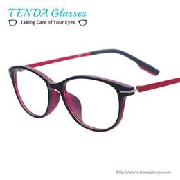82e8c7785c Atacado- Super Leve Mulheres Coloridas Moda Óculos De Plástico Oval  Prescription Spectacles Para Lentes De Leitura De Miopia acessível moda  óculos de ...