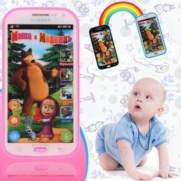 Wholesale Russian Talking Doll Masha - 3 Colors Talking Masha and Bear Phone Dolls Learning & Education Russian English Language Baby Mobilephone Electronic Kid's Toy Phones