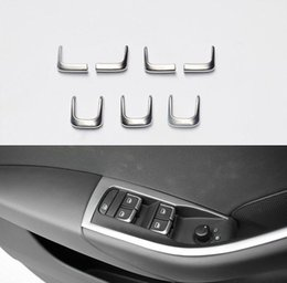 Wholesale Audi A4 Chrome - For AUDI A1 A3 A4 A6 Q7 Q3 7pcs Door Handle Chrome Window Lift Switch Cover Trim Free shipping