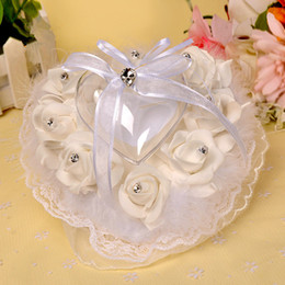 Wholesale Wholesale Ostrich Pillows - Wedding products PES roses lace pillow pillow ostrich hair ring box characters candy box party favors .(Future&Fancy) (23)