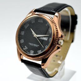 Wholesale Men Luxury Automatic Watch Replicas - Hot sale classic AAA brand replica men quartz waterproof watch luxury fashion automatic day date leather male clocks digital men dress watch