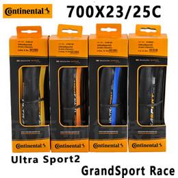 Wholesale Fold Cars - 2PCS Continental Grand   Ultra Sport2 700 * 23   25C road car folding anti-piercing tires