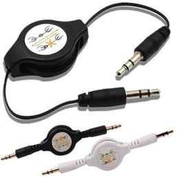 Stereo 3.5mm için 3.5mm Jack erkek Araba Ses Esnek Uzatma Kablosu Erkek Geri çekilebilir Aux Müzik Hattı iphone mp3 hoparlör için kulaklık nereden