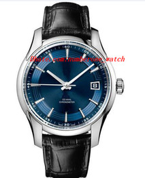 Wholesale Black Sapphire Bracelet - Brand Factory Fashion Automatic Mechanical Brand Watch Men 007 Sapphire Luxury Brand Leather Bracelet Watches Men Watch Watches