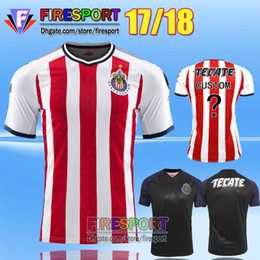 Wholesale 2017 New Arrived Camiseta de futebol Retro Chivas de Guadalajara Soccer Jerseys A PULIDO Champion Star Home Football Shirts