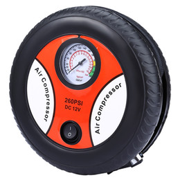 Wholesale Dc Mini Air Pump - Mini DC 12V Electric Car Motorcycle Styling Inflatable Tire Pumping Air Pumps Compressor 260PSI Portable Inflater 178347501
