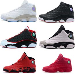 Wholesale Man Online Games - 2017 Air man woman Basketball shoes Retro 13 bred flints grey toe He Got Game hologram barons sport sneaker For online sale unisex