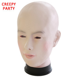 Wholesale Latex Mask Girl - Realistic Female Mask For Halloween Human Female Masquerade Latex Party Mask Sexy Girl Crossdress Costume Cosplay Mask