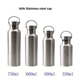 Wholesale Bpa Free Travel Water Bottle - Top Quality Stainless Steel Vacuum Water Bottle with Lid Double Wall Insulated Thermos Sports Hike Travel Leak Proof Bottle BPA free
