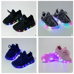 Wholesale Children S Sneaker Shoes - Kids LED Shoes s Toddler Anti-Slip Sports Boots Kids Sneakers Children Light Up Trainers Sneakers Luminous Shoe KKA2044