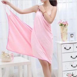 Wholesale Ladies Bath Towel - 2017 Bath Towels Fashion Lady Girls Wearable Fast Drying Magic Bath Towel Beach Spa Bathrobes Bath Skirt Free Shipping