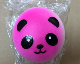 Wholesale Panda Key Chain - Brand New 10cm Jumbo Panda Squishy Soft Buns Cell Phone Key Chain Bread Phone Straps Round Animal Cute Style Keyrings