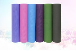 Wholesale Pad Mm - Wholesale 6mm Thick exercise TPE Yoga Mat Pad Non-Slip Lose Weight Exercise Fitness folding gymnastics mat for fitness