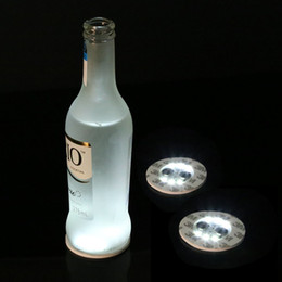 Wholesale Stickers For Wedding - Wine Bottle Lights, 6 LEDs Sticker Coaster Discs Lights for Wine Bottle, Liquor Bottle, or Other Clear Glass Decoration for Party