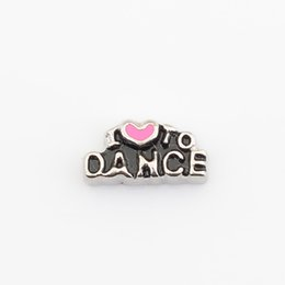 Wholesale Wholesale I Love Dance Charms - Wholesale- I love to Dance, Floating locket charms,Fit floating charm lockets, FC0284