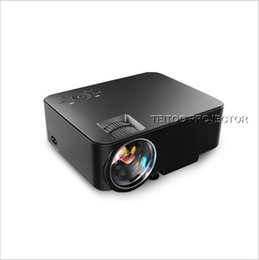 Wholesale Cheap Led Tvs - Wholesale- Cheap Android Projector Support Red Blue 3D Video Movies 1920x1080P TV HDMI LED Beamer Wifi Bluetooth for Home Cinema Theater