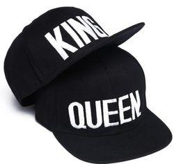 Wholesale Snapback Hats King - Embroidery Snapbacks Couple Cap Men And Women Fashion QUEEN KING Basdeball Cap Hip Hop Letter Embroidery Caps Couple Snapback Mens Hats