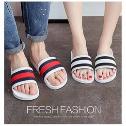 Wholesale Thick Soled Flip Flops - 2107 new Fashion Slippers Home-based Flip flops Shower Room Non-slip Thick soles Indoor and outdoor Sandals Slippers