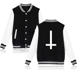 Wholesale Design New Tracksuits - Wholesale- New Fashion 2016 Satan Cartoon Design Evil Baseball Jacket XXXXL Plus Size Men Women Sweatshirt Winter Brand Hoodies Tracksuit
