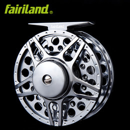 Wholesale Fly Gear - 2BB+1RB 80mm 3 4 full metal fly fishing reel aluminum fishing wheel ice fish reel Saltwater Freshwater fishing gear from original factory