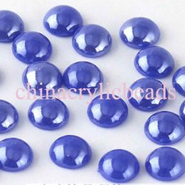 Wholesale Red Ceramic Beads - Hotsale 12MM 500 Pcs Ceramic Flat Back Pearl Cabochon Beads Jewelry Supply Hair Phone Decor