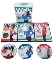 Wholesale Body Building Dvd - Pro Jessica Smith Walk On Walk the Weight Body Building Exercise Fitness 3DVDs Fitness Supplies Videos Workout DVDs Slimming Training