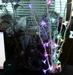 2019 led fleurs arbres Fleurs séchées arbre LED branches de lumière naturelle 25 guirlande fleurs chambre noël ornement guirlande lumineuse promotion led fleurs arbres
