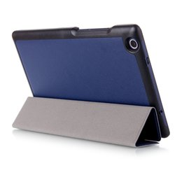 Wholesale Tab3 Magnetic Cover - Wholesale-Magnetic PU leather cover case for 2016 Lenovo Tab 3 8.0 850F M TB3-850M TB-850M Tab3-850 Ultra thin cover case protective cover