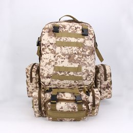 Wholesale large capacity military backpack - Large Capacity Backpack Multi Function Camouflage For Men And Women Casual Shoulder Bag Outdoor Sport Tourism Military Rucksack 74sj F