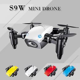 Вертолет rc 2.4ghz онлайн-S9W Мини Drone 2,4 ГГц 4-осевой RC Micro Quadcopters С Безголовый Режим Летающий Вертолет Для Детей Рождественский Подарок C3209