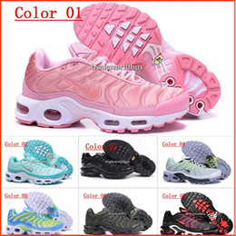Wholesale Womens Discount Running Shoes - Discount Brand New Women's Air Cushion TN Running Shoes Black White Womens Athletic jogging Tennis Shoes Pink Woman Training Sports Sneakers