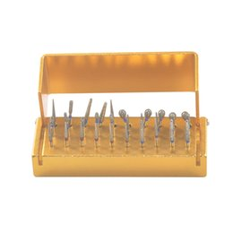 Wholesale Dimond High Quality - Free Shipping New Arrival High Quality 30PCS dimond burs+30 holes Opening Bur Holder Stand Disinfection Box