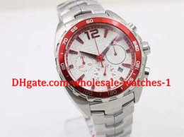 Wholesale Free Pattern Paper Box - Free original box and papers Special Limited Quartz Wristwatch checkered-patterned dial CR7 Red Bezel Full Stainless Steel Band& Skeleton An