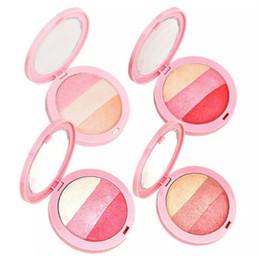 Wholesale Pressed Blush - 3 Colors By Nanda Baked Blush Palette Blusher Soft Natural Flushed Face Mineralize Pressed Powder Cheek Color
