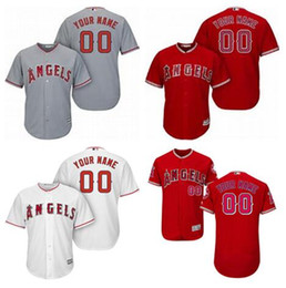 Wholesale Youth Cheap Sports Jerseys - Custom Los Angeles Angels Sports Throwback mlb Cheap Baseball Jerseys Fashion Men Youth Women Flex Base Cool Base Mike Trout Jersey Sizes 4X