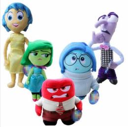 Wholesale Pixar Plush - Pixar Movie Inside Out Plush Toys Cartoon Stuffed Animals Sadness Fear Joy Disgust Stuffed Doll Christmas Gifts for Children Kids KKA2679