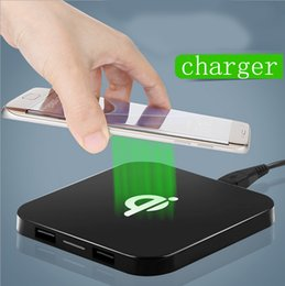 Wholesale Iphone 5s Chargers Wholesale - QI standard wireless charger Apple 5s 6plus Samsung S4 S6 Nokia Q8 wireless charger