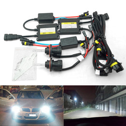 Wholesale Xenon Headlight Digital Ballast - FEELDO 35W AC Car Headlight H13 HID Xenon Bulb Hi Lo Beam Bi-Xenon Bulb Light Digital Slim Ballast HID Kit