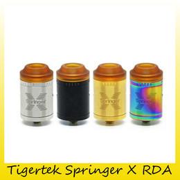 Wholesale Coil Springs Wholesale - Original Tigertek Springer X RDA Tank 24mm Diameter 2.0ml Juice Capacity Atomizers For Built-in SS304 Springs Coil 100% Genuine 2255002