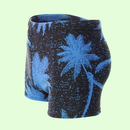 Wholesale Boys Surf Swim Suit - Wholesale- Mens Swimwear Surf Board Beach Wear Male Print Tree Swimming Trunks Boy Boxer Shorts Swimsuit Maillot De Bain Bathing Suit 2016