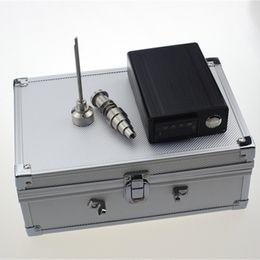 Wholesale Electronic Cigarettes Digital - D Nail Kit Digital Electronic Cigarettes Vaporizer Dry Dried Herbal Titanium Nail Domeless 16mm 20mm Temperature Controller Box