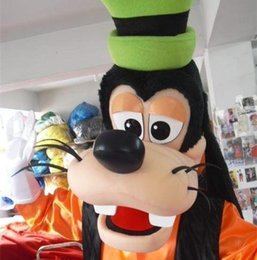 Wholesale Cartoons Characters Costumes - Goofy Dog Mascot Costume Christmas Party Fancy Dress Cartoon Character Costumes Complete Outfits factory direct sale