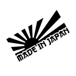 Wholesale flag car decals - 13*6 CM Rising Sun Made In Japan Art Flag Car Sticker Motorcycle Car Styling Waterproof Vinyl Decal Jdm